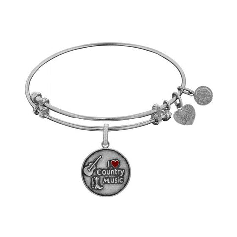 Angelica  I Love Country Music Enamel  Bangle - Oak Ridge Jewelers