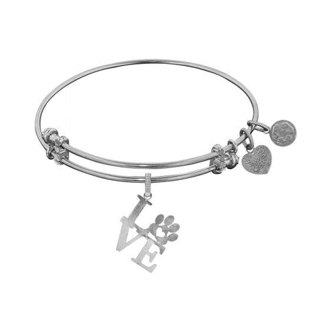 Angelica Love/Paw Print  Bangle - Oak Ridge Jewelers
