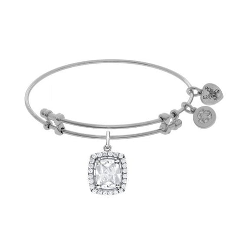 Angelica White CZ Cushion Angelica Bangle - Oak Ridge Jewelers