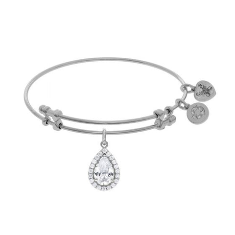 Angelica White CZ Pear Angelica Bangle - Oak Ridge Jewelers