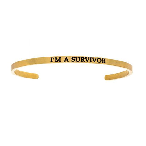 "Intuitions ""I'm A Survivor"" Cuff Bracelet - Oak Ridge Jewelers"
