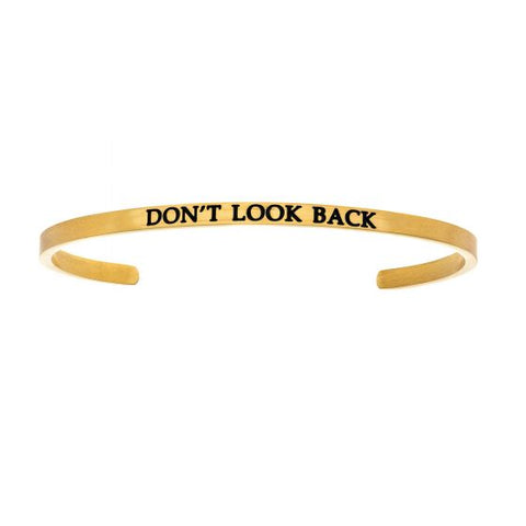 "Intuitions ""DON'T LOOK BACK"" Cuff Bracelet - Oak Ridge Jewelers"