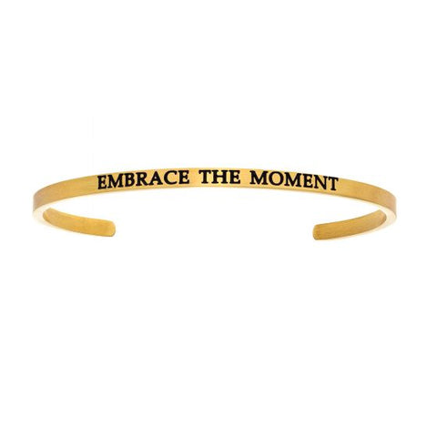 "Intuitions ""Embrace The Moment"" Cuff Bracelet - Victoria's Jewelry"