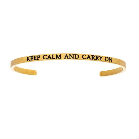 "Intuitions ""KEEP CALM AND CARRY ON""  Cuff Bracelet - Victoria's Jewelry"