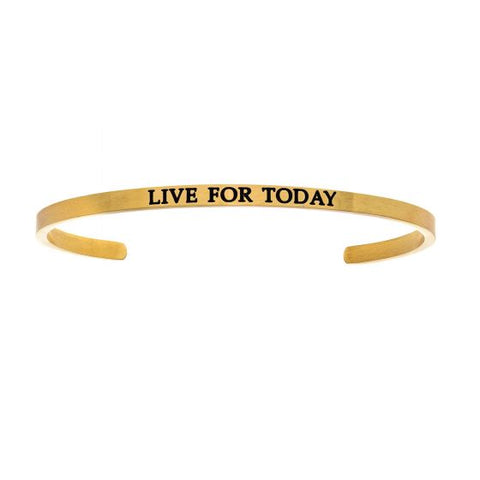 "Intuitions ""Live For Today"" Cuff Bracelet - Victoria's Jewelry"