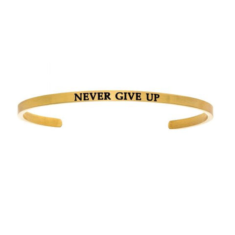"Intuitions ""Never Give Up"" Cuff Bracelet - Victoria's Jewelry"