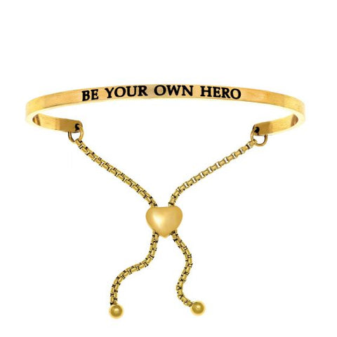 "Intuitions ""Be Your Own Hero"" Friendship Bracelet - Oak Ridge Jewelers"