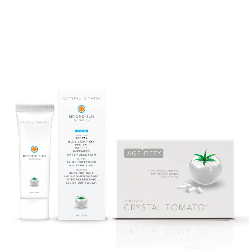 Crystal Tomato® Supplement + Beyond Sun Protection