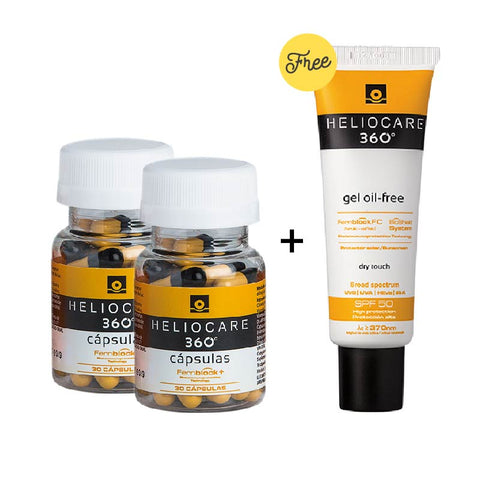Heliocare Oral 360º Two Bottles  <br> (PROTECTS AGAINST BLUE LIGHT, HEV)