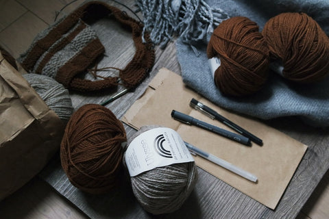 Basic skills for entrelac knitting