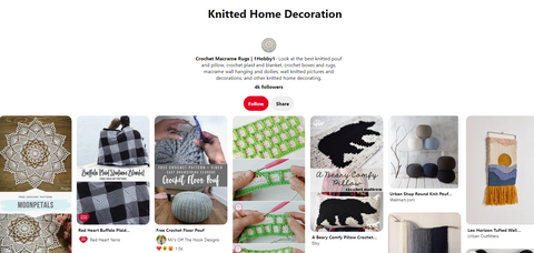 Knitted home decor pinterest board