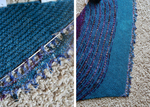 How to block a knitted shawl on the Zen Yarn Garden Blog
