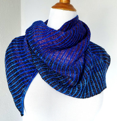 wrapped in brioche free shawl knitting pattern