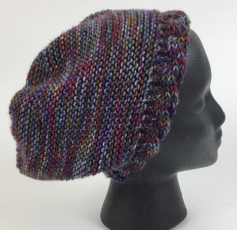 reversible cable brim hat knitting pattern