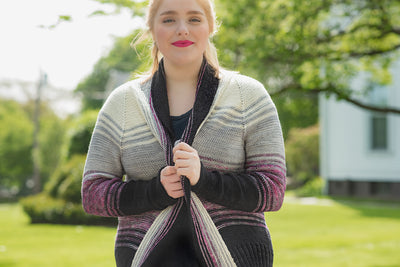 Comfort Fade Cardigan Kit (includes pattern)