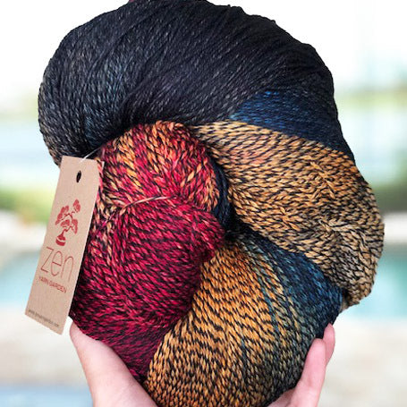 Nightshade Fingering QUEEN SIZE - Peacock
