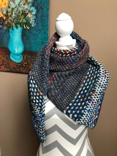 NightShift Shawl Kit (includes pattern & 6 skeins)