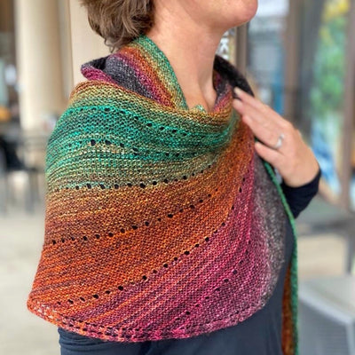 Onward Shawl Kit (includes Woodlands Lux Cake)