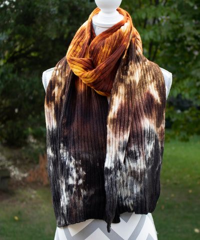 Brimstone Hand dyed Double Ribbed Scarf