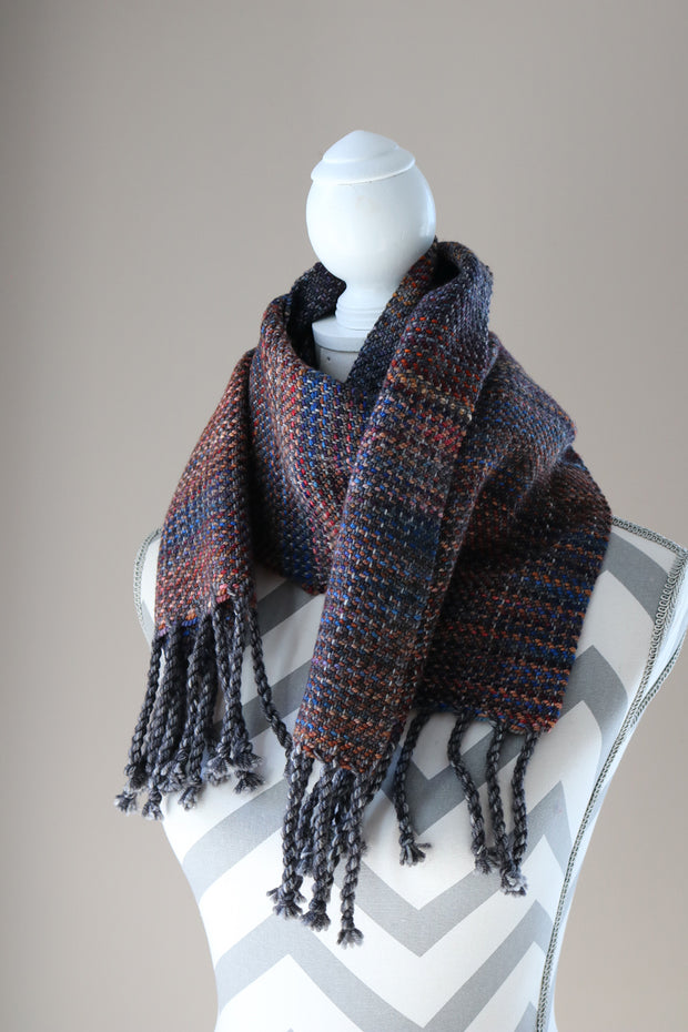 Charcoal Handwoven Scarf