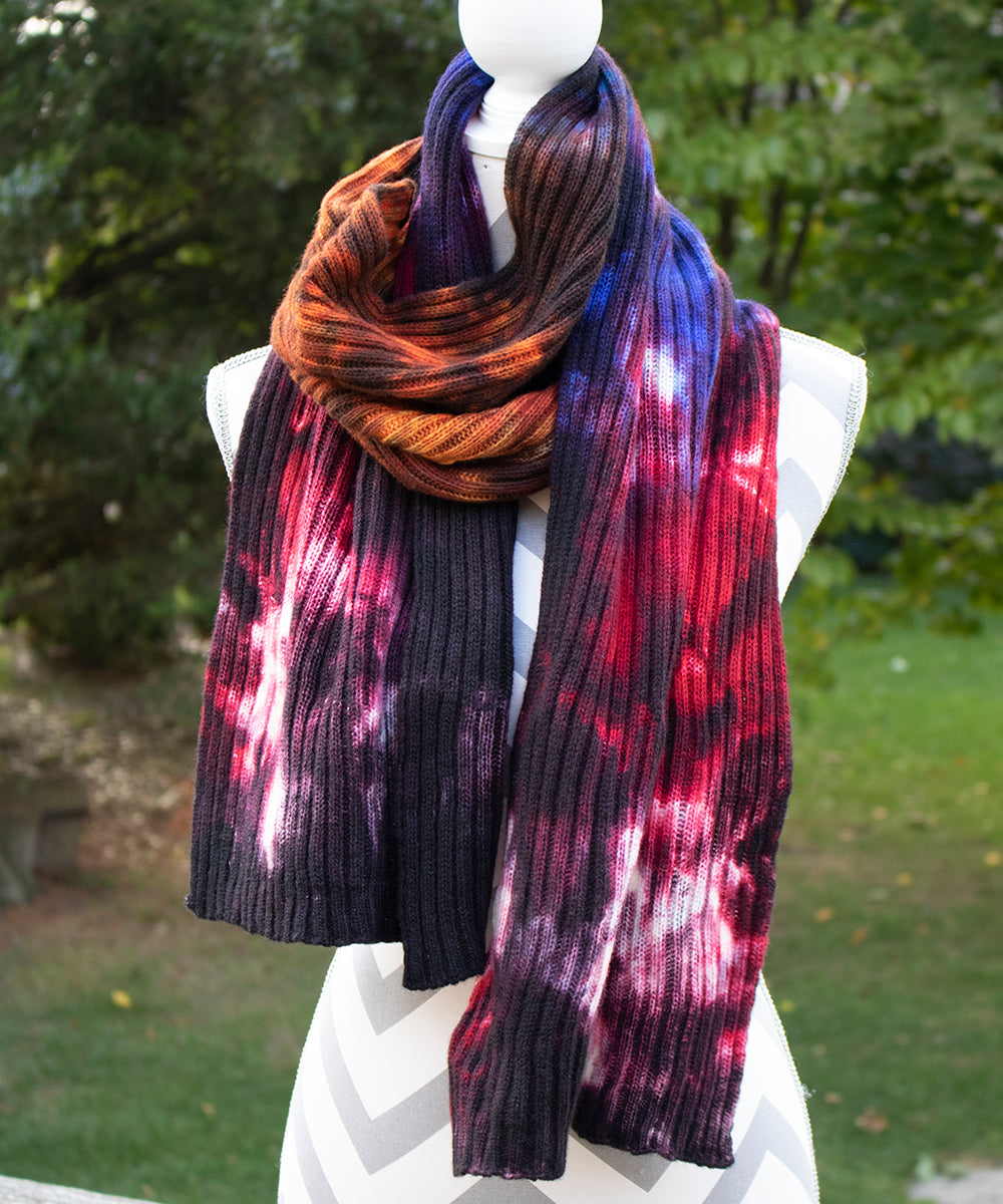 Country Living Hand dyed Double Ribbed Scarf