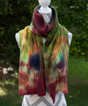 Graffiti Hand dyed Double Ribbed Scarf