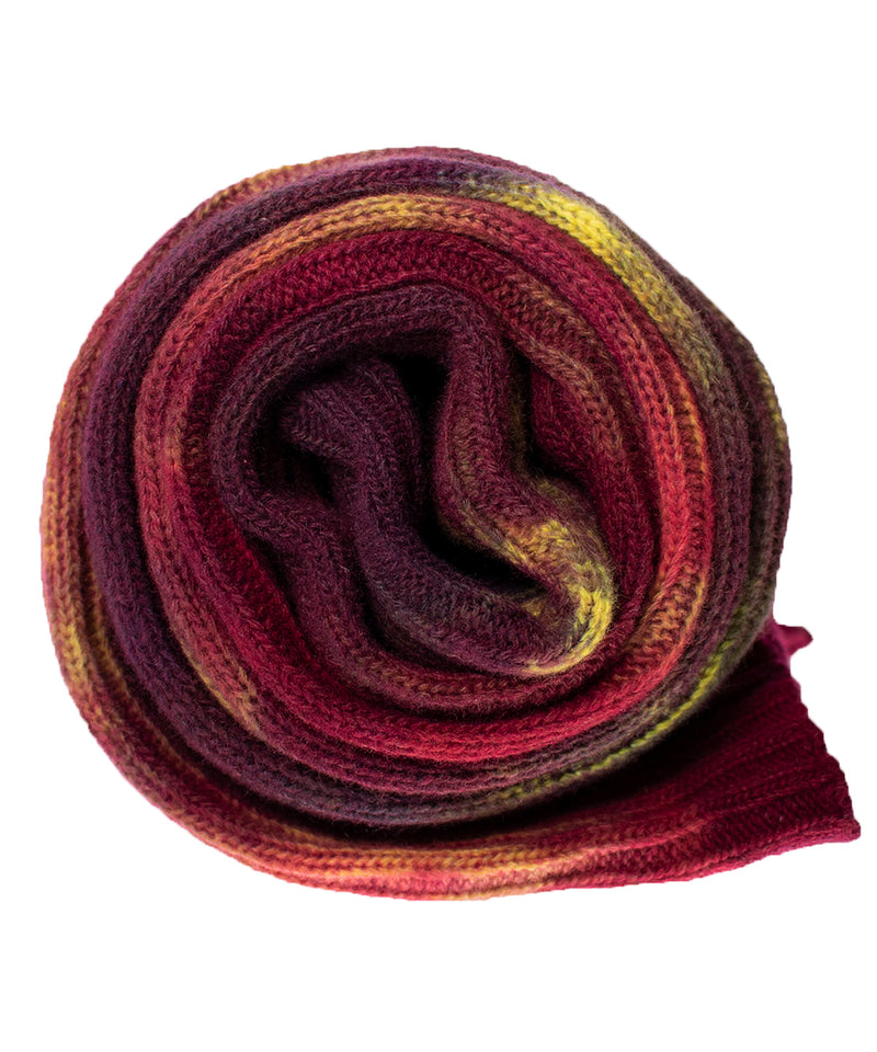 Jewel Hand dyed Double Ribbed Scarf