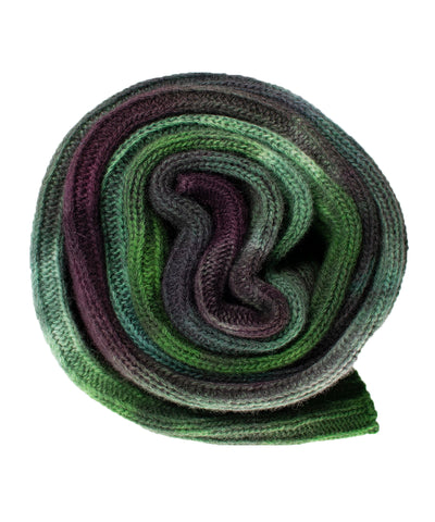 Old Quilt Hand dyed Double Ribbed Scarf