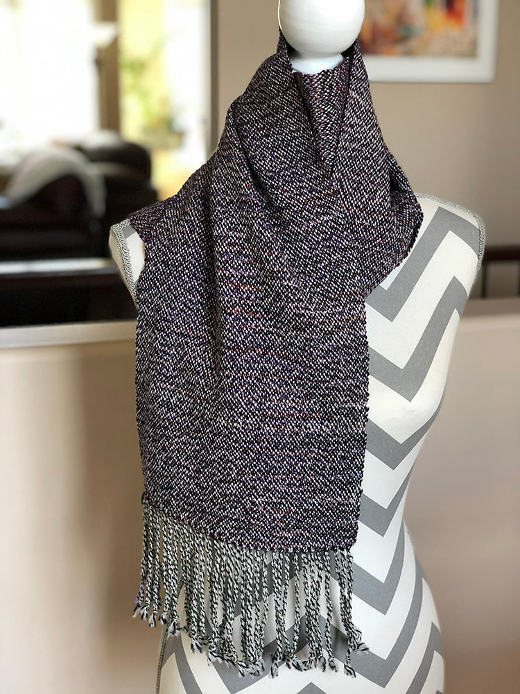 Triple Berry Handwoven Scarf