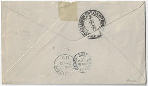 1902, Goderich Ont - ½¢ (4) 1¢ (3) Numeral, 5¢ UPU letter rate to Uruguay (b/s). Hamilton and NY transit