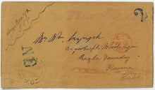 Load image into Gallery viewer, 1858, Galt UC - prepaid stampless cover to Cuba, 2/9stg, 3/5cy, the only cover to Cuba during the 1851-1859 Pence era