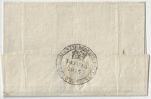 Load image into Gallery viewer, 1815, stampless folded cover from England prepaid 2/1½. Withdrawn ship letter, by Dorothy out of Gravesend, to Quebec.