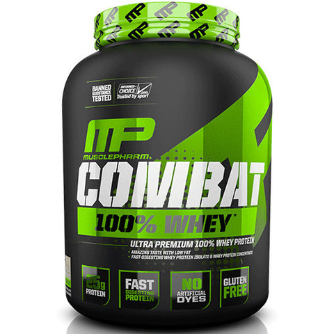 Combat 100% Whey 5lb - MusclePharm (Vanilla) - Clearance Exp 08/19 $49!