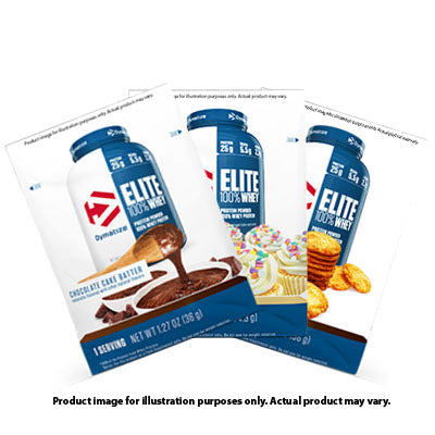 Elite Whey Protein 1 Serving Pouch - 3 Pieces