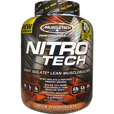 Nitro-Tech Performance Series 3.97 lbs MuscleTech (Strawberry) - Clearance 09/18 $78!