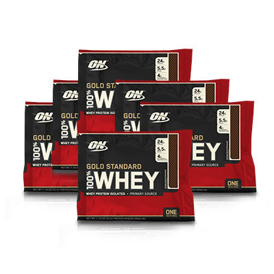 100% Whey Protein 1 Serving Pouch - 6 Pieces