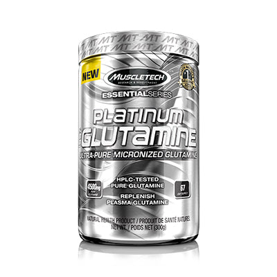 Platinum 100% Glutamine 302 Grams Unflavored MusleTech