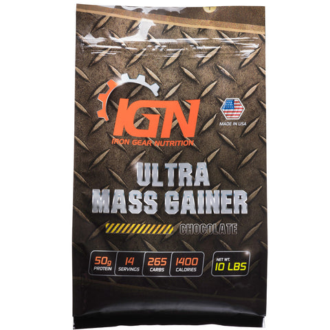 Iron Gear Nutrition Ultra Mass Gainer 10lb Resealable Bag