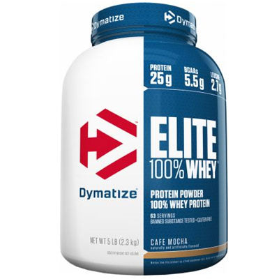 Elite 100% Whey Protein - 5 lbs Dymatize - Clearance Exp 11/19 $67!