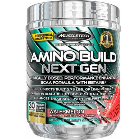 Amino Build Next Gen 30 Servings MuscleTech - CLEARANCE EXP 05/18 (Hardened) $23!