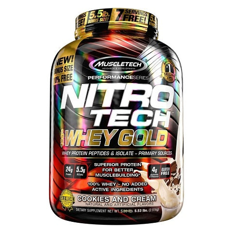 Nitro-Tech 100% Whey Gold 6 lbs MuscleTech
