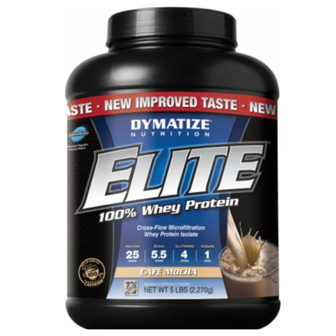 Elite 100% Whey Protein  5 lbs Vanilla Cupcake Dymatize - CLEARANCE Exp 06/18 $67