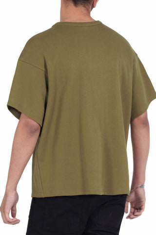 Zip Short Sleeved Sweat / Khaki
