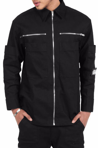 Combat Shirt Jacket / Black