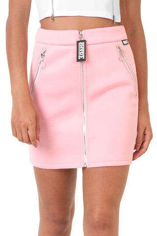 Zip Up Skirt / Blush