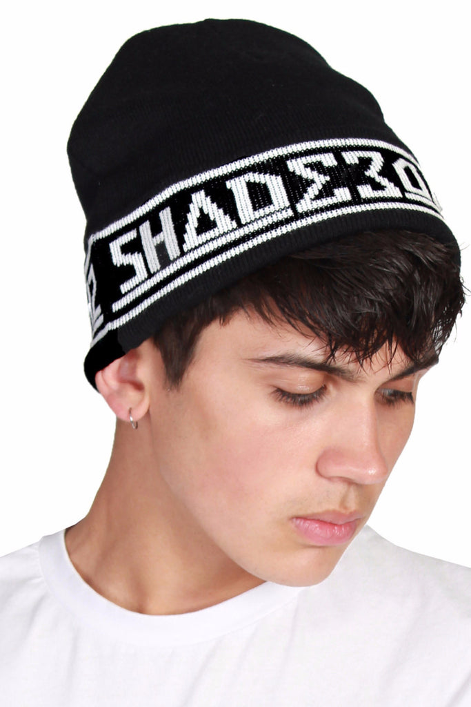 Knitted Beanie Hat / Black
