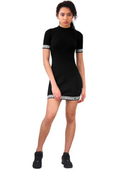 Polo Short Sleeved Dress / Black