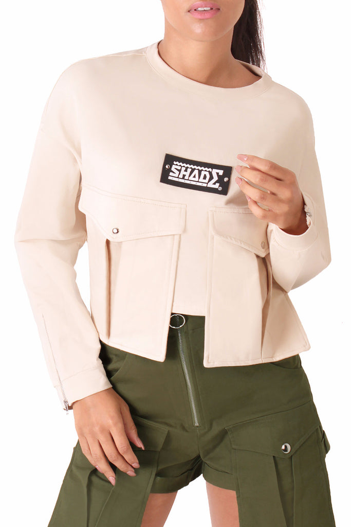 Utilitarian Cropped Sweat