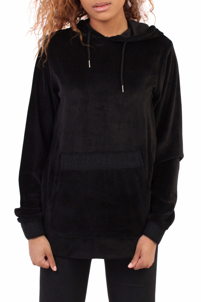 Velour Hooded Sweat