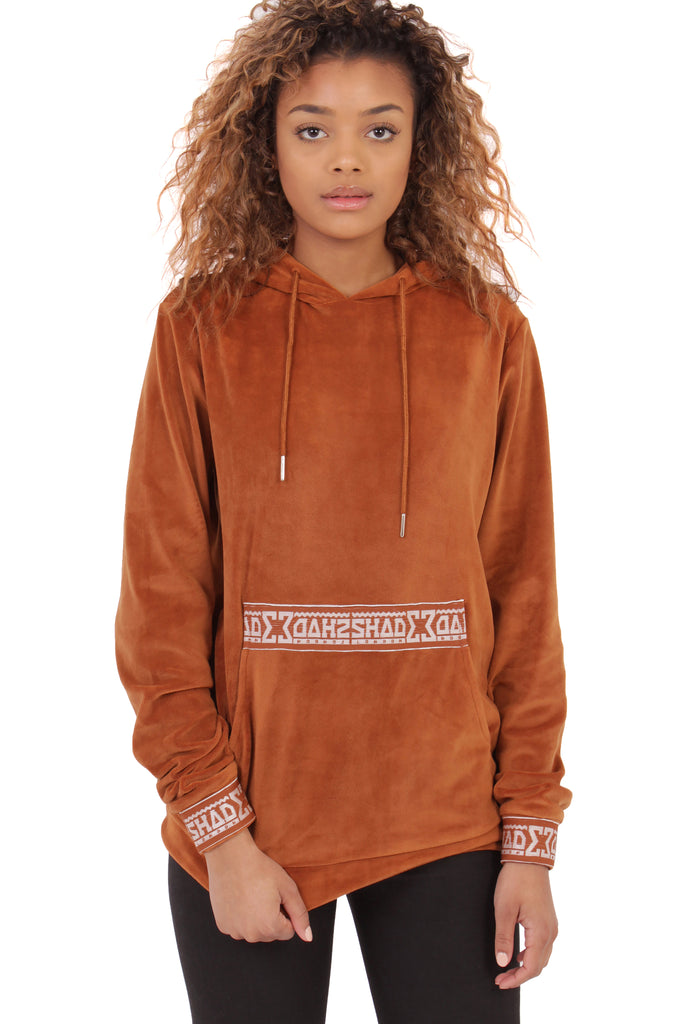 Velour Hooded Sweat / Rust